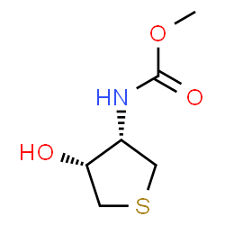 ChemSpider 2D Image | Methyl [(3S,4R)-4-hydroxytetrahydro-3-thiophenyl]carbamate | C6H11NO3S