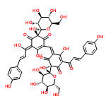 ChemSpider 2D Image | Carthamine | C43H42O22
