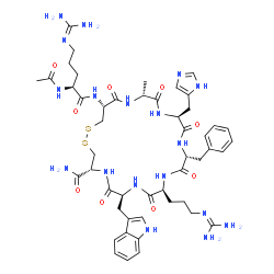ChemSpider 2D Image | Setmelanotide | C49H68N18O9S2