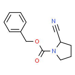ChemSpider 2D Image | Benzyl 2-cyano-1-pyrrolidinecarboxylate | C13H14N2O2