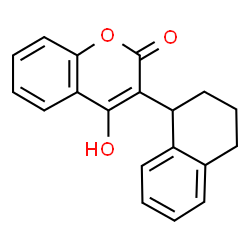 ChemSpider 2D Image | coumatetralyl | C19H16O3