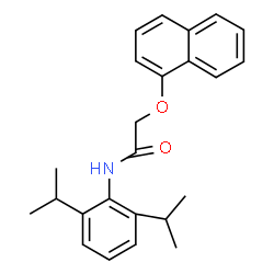 ChemSpider 2D Image | N-(2,6-Diisopropylphenyl)-2-(1-naphthyloxy)acetamide | C24H27NO2