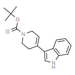 ChemSpider 2D Image | tert-butyl 4-(1H-indol-3-yl)-3,6-dihydropyridine-1(2H)-carboxylate | C18H22N2O2