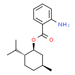 ChemSpider 2D Image | (1S,2R,5S)-2-Isopropyl-5-methylcyclohexyl 2-aminobenzoate | C17H25NO2