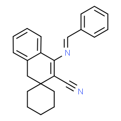 ChemSpider 2D Image | 4'-[(E)-Benzylideneamino]-1'H-spiro[cyclohexane-1,2'-naphthalene]-3'-carbonitrile | C23H22N2