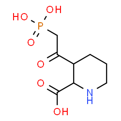 ChemSpider 2D Image | 3-(Phosphonoacetyl)-2-piperidinecarboxylic acid | C8H14NO6P