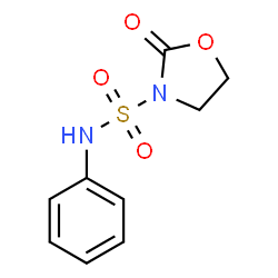 ChemSpider 2D Image | 2-Oxo-N-phenyl-1,3-oxazolidine-3-sulfonamide | C9H10N2O4S