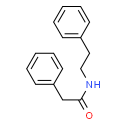 ChemSpider 2D Image | N-PHENETHYL-2-PHENYLACETAMIDE | C16H17NO
