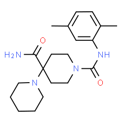 ChemSpider 2D Image | N~1~'-(2,5-Dimethylphenyl)-1,4'-bipiperidine-1',4'-dicarboxamide | C20H30N4O2