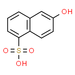 ChemSpider 2D Image | 6-Hydroxy-1-naphthalenesulfonic acid | C10H8O4S