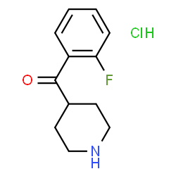 ChemSpider 2D Image | (2-Fluorophenyl)(4-piperidinyl)methanone hydrochloride (1:1) | C12H15ClFNO