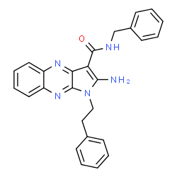 ChemSpider 2D Image | 2-Amino-N-benzyl-1-(2-phenylethyl)-1H-pyrrolo[2,3-b]quinoxaline-3-carboxamide | C26H23N5O