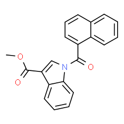 ChemSpider 2D Image | Methyl 1-(1-naphthoyl)-1H-indole-3-carboxylate | C21H15NO3