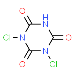 ChemSpider 2D Image | Dichloroisocyanuric acid | C3HCl2N3O3