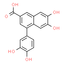 ChemSpider 2D Image | 4-(3,4-Dihydroxyphenyl)-6,7-dihydroxy-2-naphthoic acid | C17H12O6