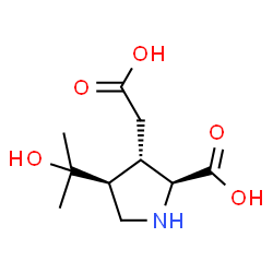 ChemSpider 2D Image | (3S,4S)-3-(Carboxymethyl)-4-(2-hydroxy-2-propanyl)-L-proline | C10H17NO5