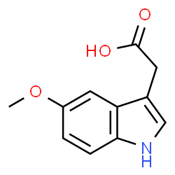 ChemSpider 2D Image | 5-Methoxy-3-indoleaceate | C11H11NO3