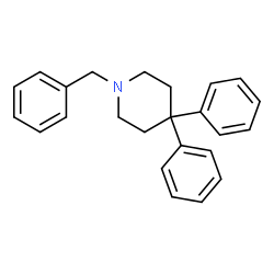 ChemSpider 2D Image | 1-Benzyl-4,4-diphenylpiperidine | C24H25N