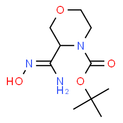 ChemSpider 2D Image | 2-Methyl-2-propanyl 3-(N-hydroxycarbamimidoyl)-4-morpholinecarboxylate | C10H19N3O4