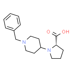 ChemSpider 2D Image | (S)-N-[4'-benzyl)piperidino]proline | C17H24N2O2