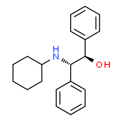 ChemSpider 2D Image | (1R,2S)-2-(Cyclohexylamino)-1,2-diphenylethanol | C20H25NO