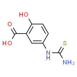 ChemSpider 2D Image | 5-(Carbamothioylamino)-2-hydroxybenzoic acid | C8H8N2O3S
