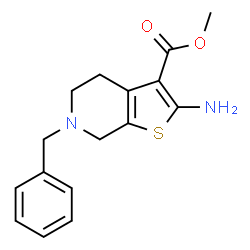 ChemSpider 2D Image | Methyl 2-amino-6-benzyl-4,5,6,7-tetrahydrothieno[2,3-c]pyridine-3-carboxylate | C16H18N2O2S