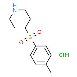 ChemSpider 2D Image | 4-[(4-Methylphenyl)sulfonyl]piperidine hydrochloride (1:1) | C12H18ClNO2S