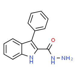 ChemSpider 2D Image | 3-Phenyl-1H-indole-2-carbohydrazide | C15H13N3O