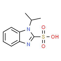 ChemSpider 2D Image | 1-Isopropyl-1H-benzimidazole-2-sulfonic acid | C10H12N2O3S