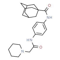 ChemSpider 2D Image | N-{4-[(1-Piperidinylacetyl)amino]phenyl}-1-adamantanecarboxamide | C24H33N3O2