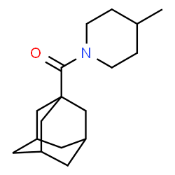 ChemSpider 2D Image | Adamantan-1-yl(4-methyl-1-piperidinyl)methanone | C17H27NO