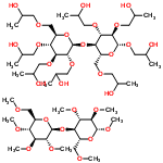 ChemSpider 2D Image | 2-Hydroxypropyl 2,3,6-tris-O-(2-hydroxypropyl)-4-O-[2,3,4,6-tetrakis-O-(2-hydroxypropyl)-beta-D-glucopyranosyl]-beta-D-glucopyranoside - methyl 2,3,6-tri-O-methyl-4-O-(2,3,4,6-tetra-O-methyl-beta-D-gl ucopyranosyl)-beta-D-glucopyranoside (1:1) | C56H108O30