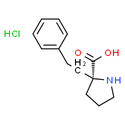 ChemSpider 2D Image | 2-(2-Phenylethyl)-D-proline hydrochloride (1:1) | C13H18ClNO2