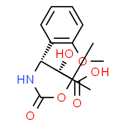 ChemSpider 2D Image | (2R,3R)-2-Hydroxy-3-(2-methoxyphenyl)-3-({[(2-methyl-2-propanyl)oxy]carbonyl}amino)propanoic acid | C15H21NO6