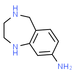ChemSpider 2D Image | 2,3,4,5-Tetrahydro-1H-1,4-benzodiazepin-8-amine | C9H13N3