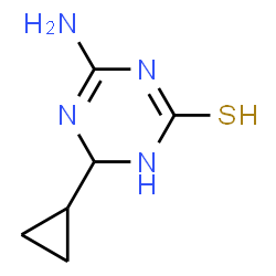 ChemSpider 2D Image | 4-Amino-6-cyclopropyl-5,6-dihydro-1,3,5-triazine-2(1H)-thione | C6H10N4S