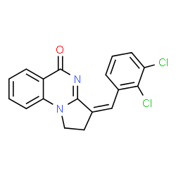 ChemSpider 2D Image | (3Z)-3-(2,3-Dichlorobenzylidene)-2,3-dihydropyrrolo[1,2-a]quinazolin-5(1H)-one | C18H12Cl2N2O