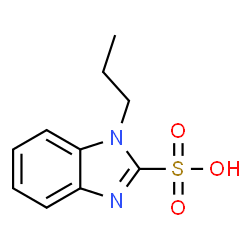 ChemSpider 2D Image | 1-Propyl-1H-benzimidazole-2-sulfonic acid | C10H12N2O3S