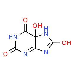 ChemSpider 2D Image | 5-hydroxyisouric acid | C5H4N4O4