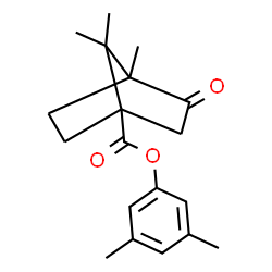 ChemSpider 2D Image | 3,5-Dimethylphenyl 4,7,7-trimethyl-3-oxobicyclo[2.2.1]heptane-1-carboxylate | C19H24O3
