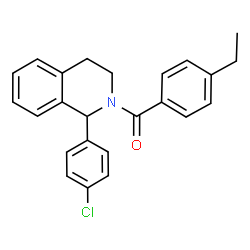 ChemSpider 2D Image | [1-(4-Chlorophenyl)-3,4-dihydro-2(1H)-isoquinolinyl](4-ethylphenyl)methanone | C24H22ClNO