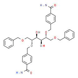 ChemSpider 2D Image | 1,6-Di-O-benzyl-2,5-bis-O-(4-carbamoylbenzyl)-D-mannitol | C36H40N2O8