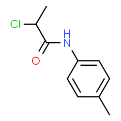 ChemSpider 2D Image | 2-Chloro-N-(4-methylphenyl)propanamide | C10H12ClNO