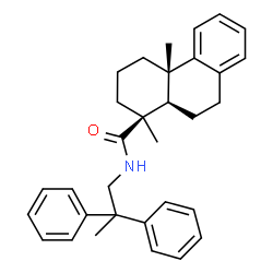 ChemSpider 2D Image | N-(2,2-Diphenylpropyl)podocarpa-8(14),9(11),12-trien-16-amide | C32H37NO