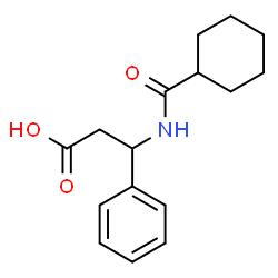 ChemSpider 2D Image | 3-[(Cyclohexylcarbonyl)amino]-3-phenylpropanoic acid | C16H21NO3