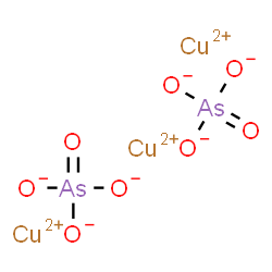 ChemSpider 2D Image | Copper(II) arsenate | As2Cu3O8