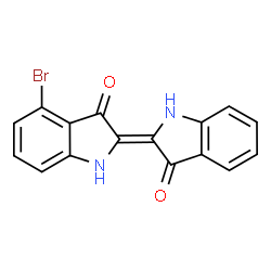 ChemSpider 2D Image | (2E)-4-Bromo-2-(3-oxo-1,3-dihydro-2H-indol-2-ylidene)-1,2-dihydro-3H-indol-3-one | C16H9BrN2O2