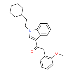 ChemSpider 2D Image | 1-(2-cyclohexylethyl)-3-(2-methoxyphenylacetyl)indole | C25H29NO2