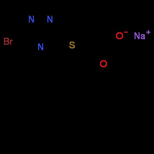 ChemSpider 2D Image | Lesinurad sodium | C17H13BrN3NaO2S